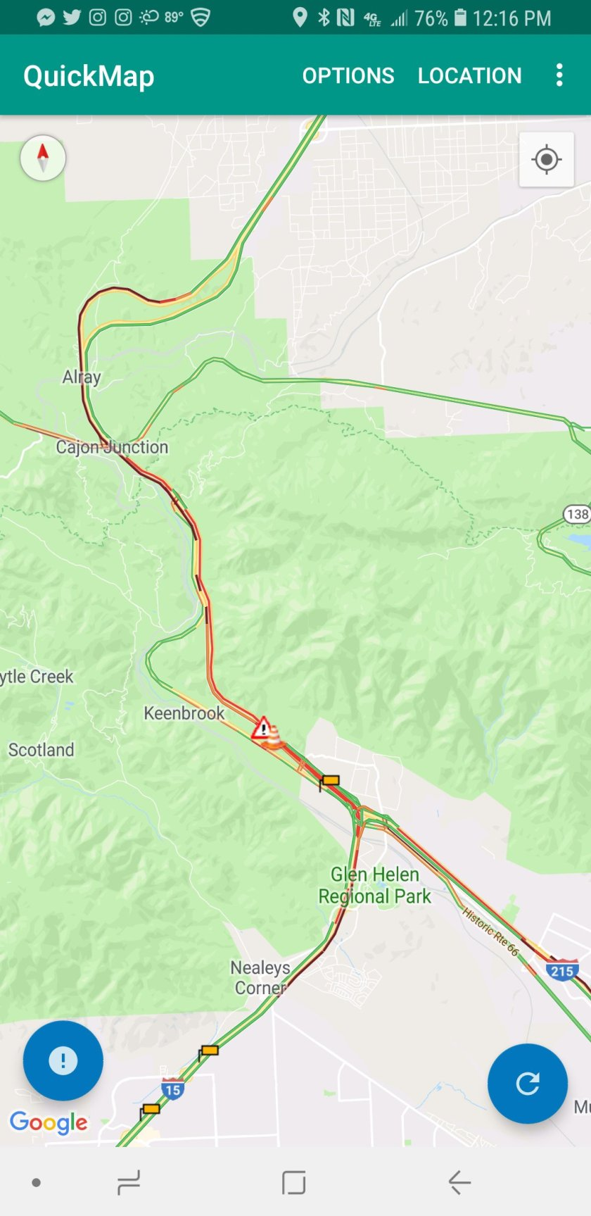 Cajon Pass Fire Map.Brush Fire In The Cajon Pass Pain In The Pass