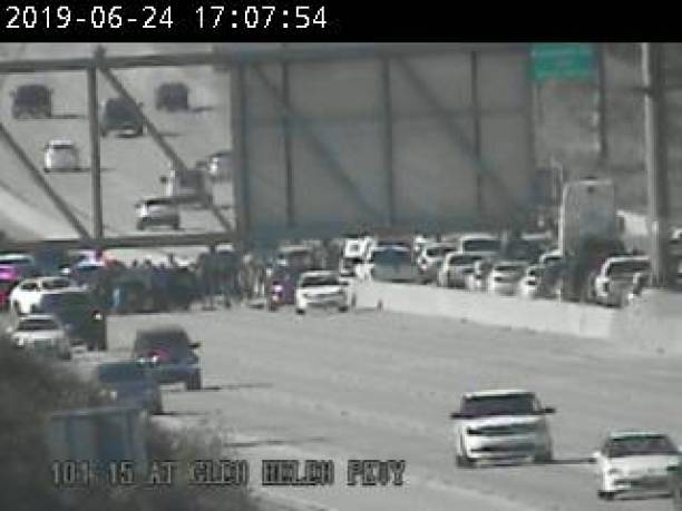 Bad accident with one vehicle rollover onto the other side