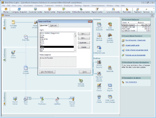 QuickBooks Enterprise Solutions supports from 5 to up to 30 simultaneous users