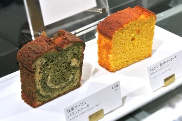 ブルーボトルコーヒーの焼き菓子(抹茶マーブルパウンドケーキ、オレンジカントリーケーキ)