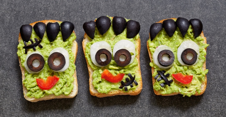 Frankenstein avocado toast