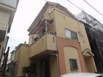 ガイナ 川崎市 コロニアル屋根 塗装