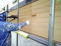 10サイディング壁 ガイナ塗装 上塗り(3層目)2