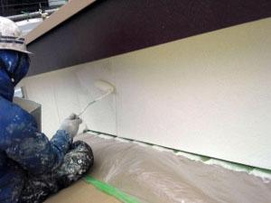 外壁サイディング塗装 上塗り