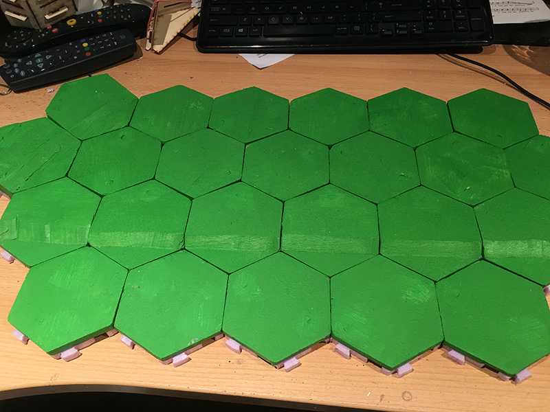 Basic hexes fitted to the snowflakes below