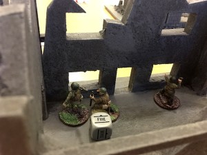 Russian ant-tank rifle team and spotter set up for an attack on the Tiger