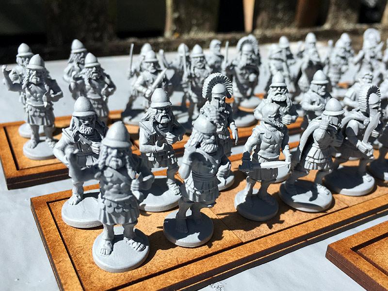 Spartan Hoplites having been undercoated