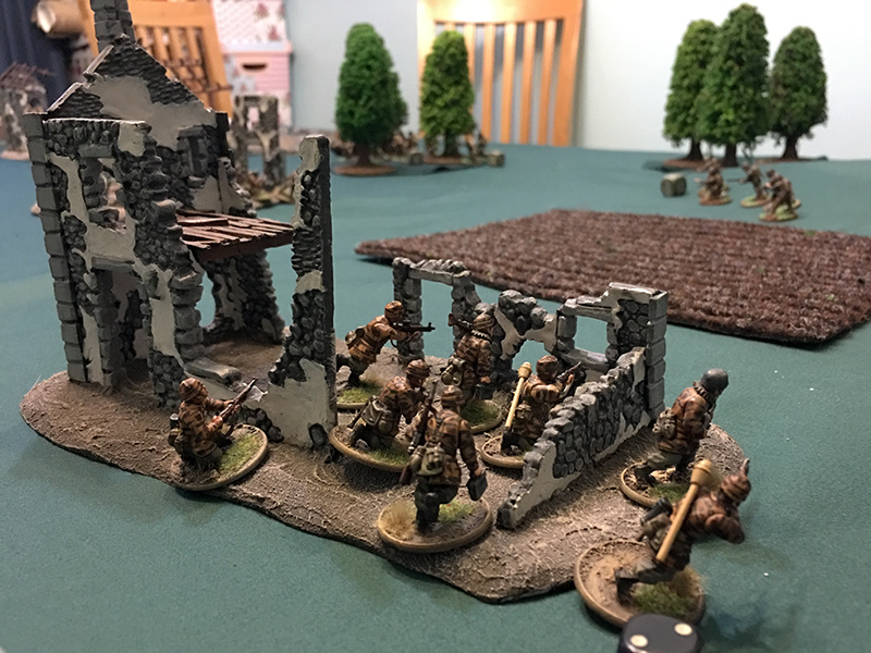 Fallschirmjagers enter the ruins