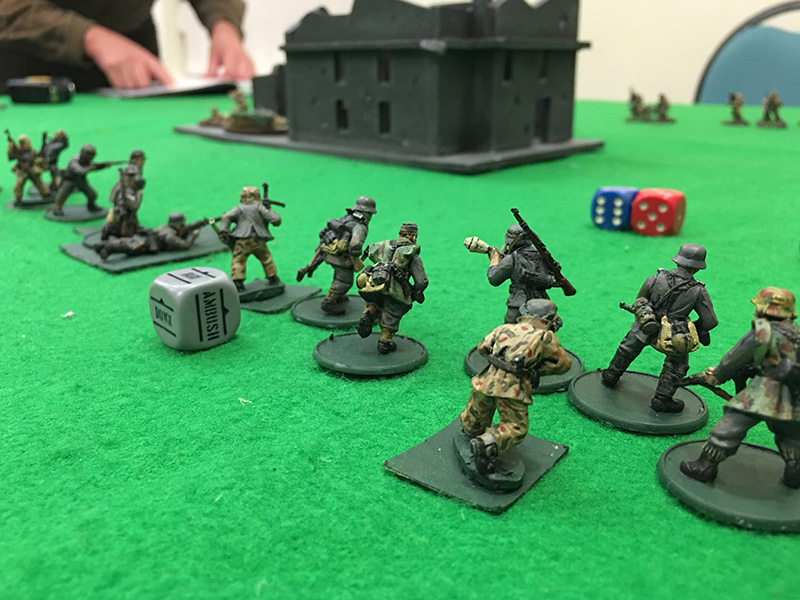 Germans advance on the objective