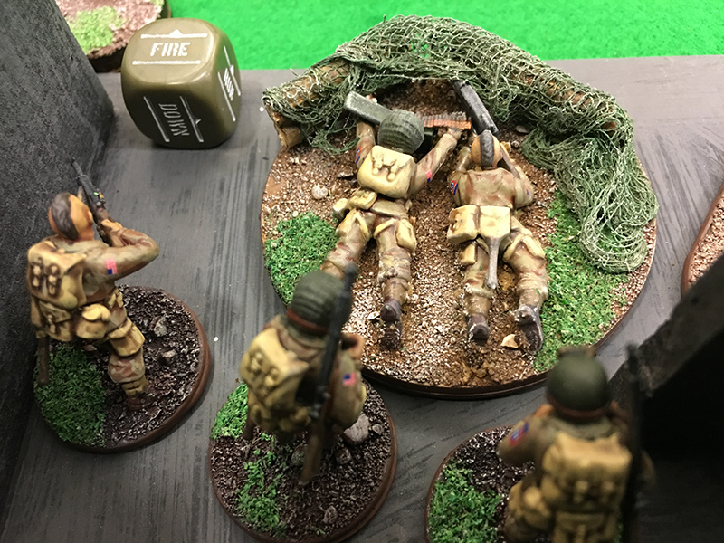 1st Squad MG team look for targets