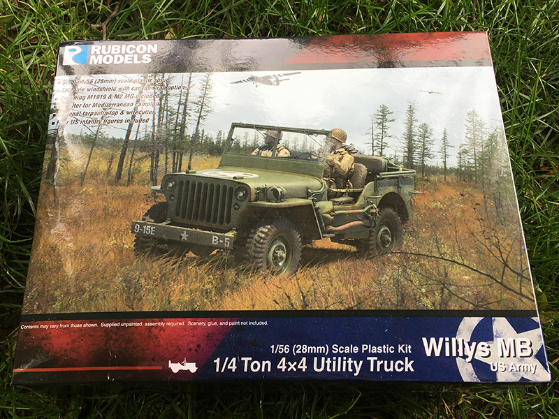 Rubicon 1/56 1/4 Ton 4x4 Utility Truck (Willys Jeep) Box