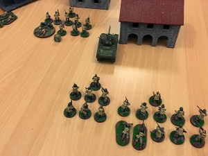 The Americans advance towards the village