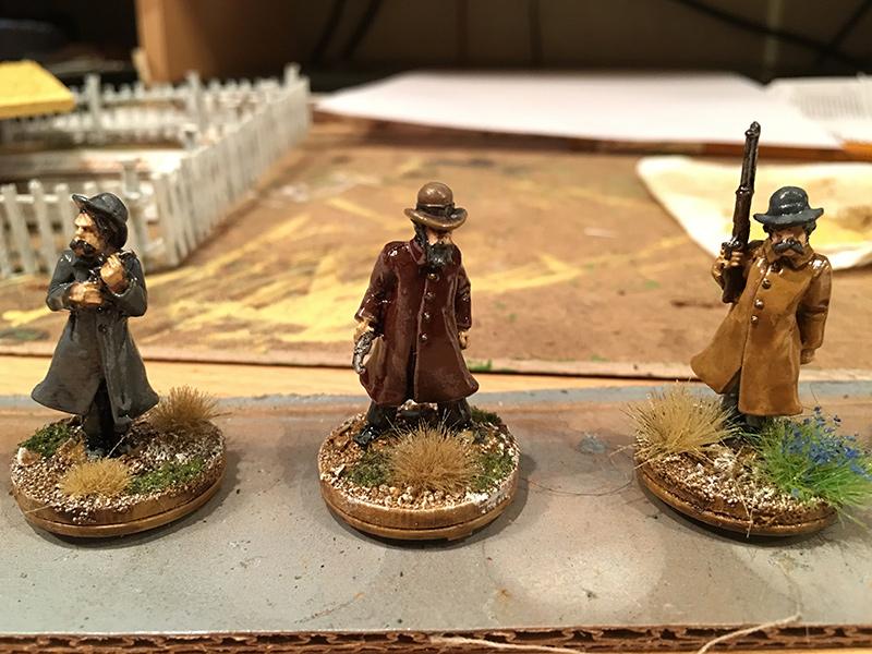 Painted Pinkerton Detectives