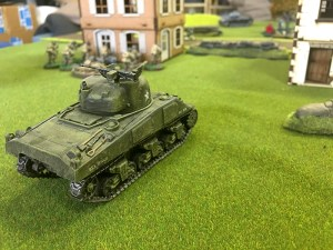 My Sherman immobilised the German Pz 4