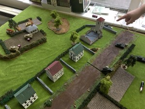 The IS2s advance over the hedge line