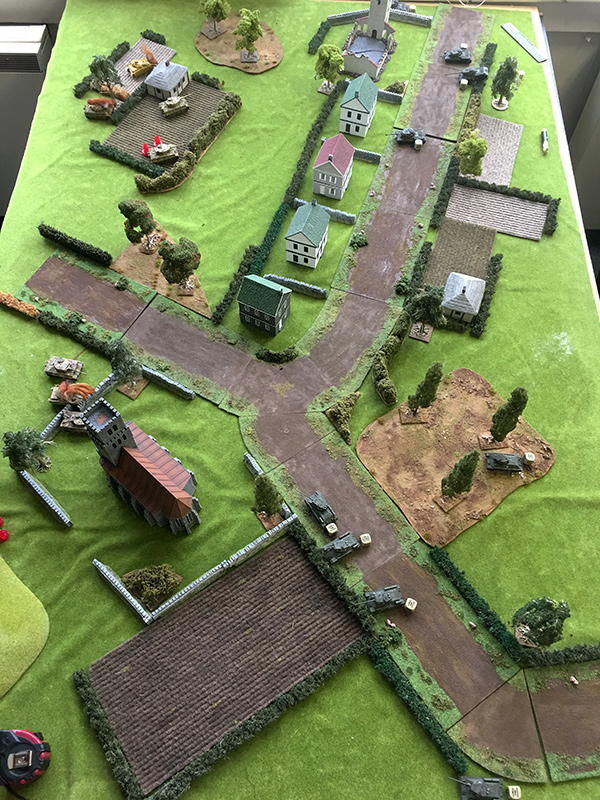 End of turn 4, still no hits for the Germans
