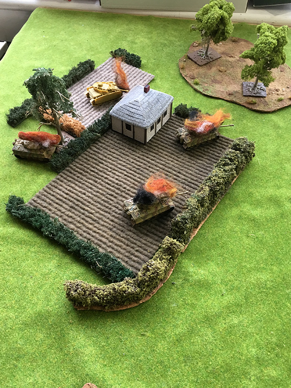 Devastation on the German left flank