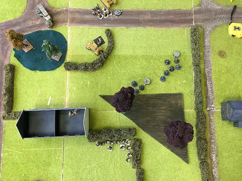 The remnants of the Germans try to advance