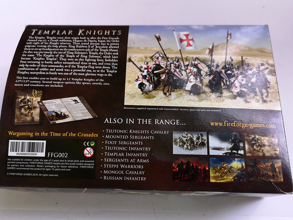 Fireforge Templar Knights Box Rear