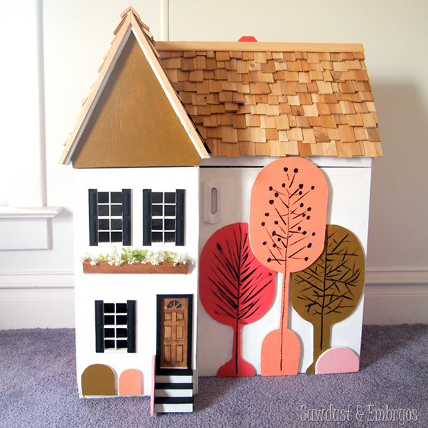 A DIY Stenciled Dollhouse | Paint + Pattern