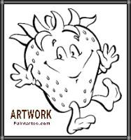 رسومات اطفال سهلة للتلوين فراولة