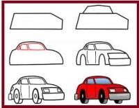 رسومات سيارات اطفال بسيطة