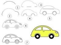 تعلم رسم سيارات سهله باليد للاطفال