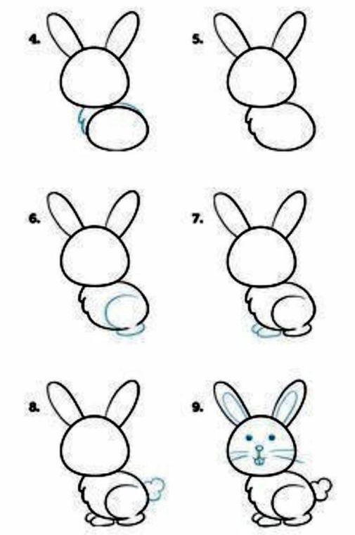 رسم الارنب للاطفال رسم ارنب بطريقة سهلة