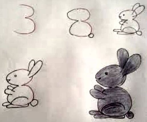 طريقة رسم ارنب بالخطوات رسم ارنب للاطفال