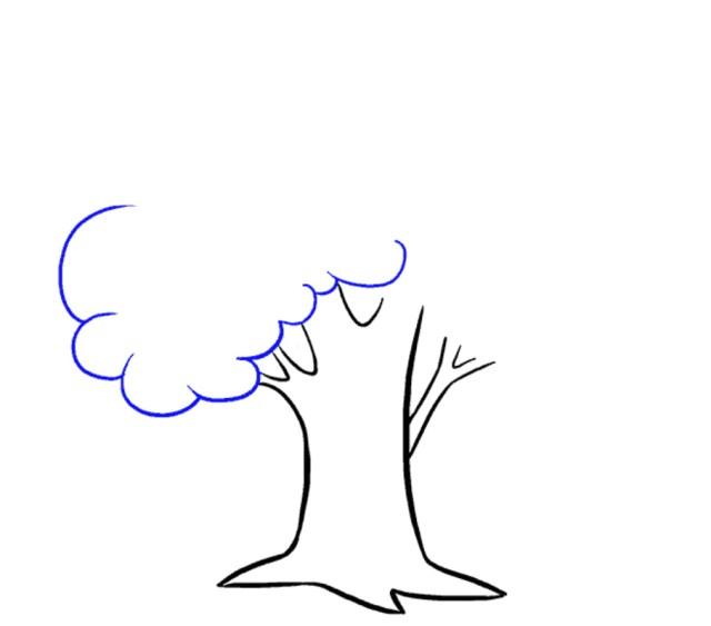 رسم سهل وبسيط بالرصاص رسمة شجرة للاطفال صورة شجرة كرتونية