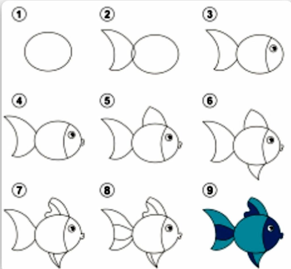 هرم حصاد باني كيفية رسم سمكة للاطفال Comertinsaat Com
