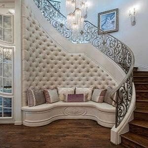 افكار ديكورات تحت الدرج الداخلي في المنزل