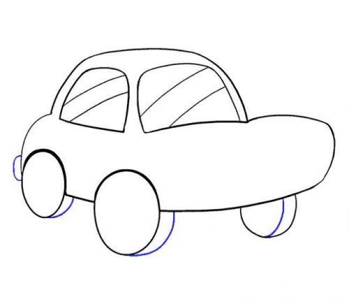 رسم سيارة اطفال