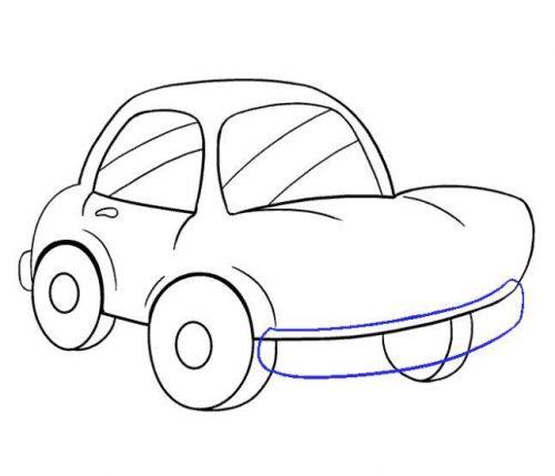 رسم سيارة بالخطوات
