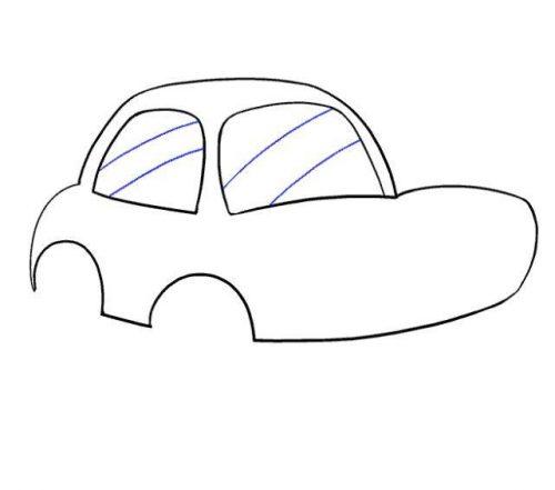 طريقة رسم سيارة للاطفال