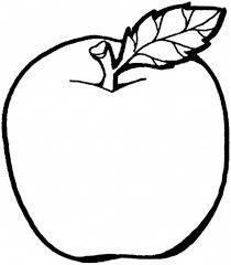 ورقة عمل تلوين الفواكه تفاح
