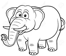 رسومات اطفال للتلوين فيل