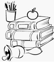 كتب وأدوات مدرسية مفرغة