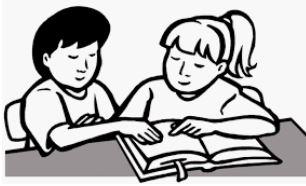 رسمات اطفال يذاكرون
