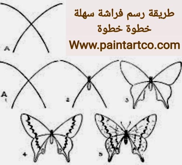منهج تعليم الرسم للاطفال رسم فراشة بالرصاص