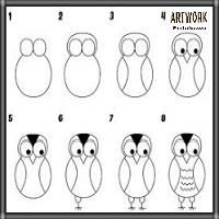تعليم الرسم بالرصاص بالخطوات رسم عصفور