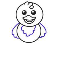 تعليم الرسم للاطفال رسم كتكوت