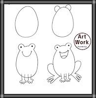 تعليم الرسم بالرصاص للمبتدئين رسم ضفدع سهل بالصور والخطوات