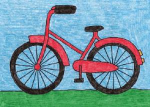 كيفية رسم دراجة جميلا للأطفال