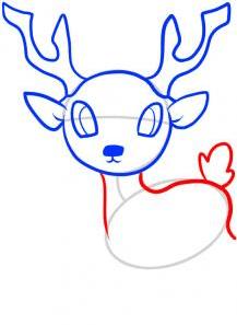 رسومات حيوانات رسم غزالة للأطفال