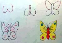 رسم فراشة بالحروف الإنجليزية