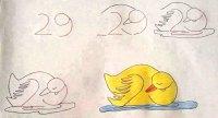 رسم بطة بالخطوات والصور للأطفال
