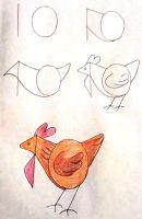 رسم دجاجة للمبتدئين خطوة بخطوة