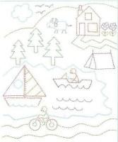 تلوين الغابة والبحر والمركب والقارب والدراجة