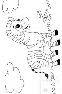 افكار رسوم للاطفال بسيطة حمار وحشي